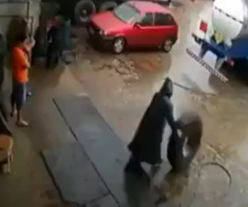 Tire Shop Worker Gets Hurt Bad...