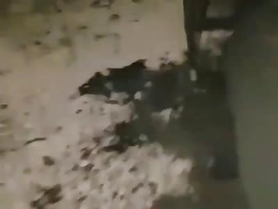 victim of attack bomb burned