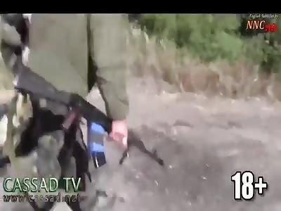 Eastern Ukrainians ambushing convoy of Ukrainian nazi battalion Aidar.  |
