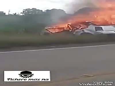 . Woman burns alive in her car (shocking). | theYNC->