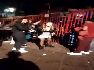 crazy hooker street fight