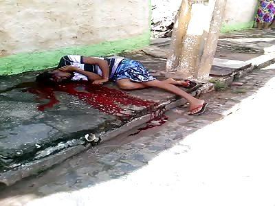 Kid Agonizes After Headshots: Murdered in barrio Vitória de Santo Antão   theYNC->