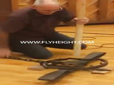 Old Man Horrifies Everyone By Punching A Bear Trap