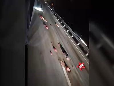 Shocking Brutal Accident.. Cars Keep Driving Over