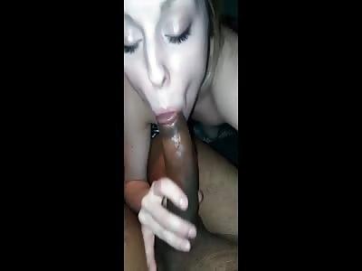 White Girl Loves to Suck Big Black Cock