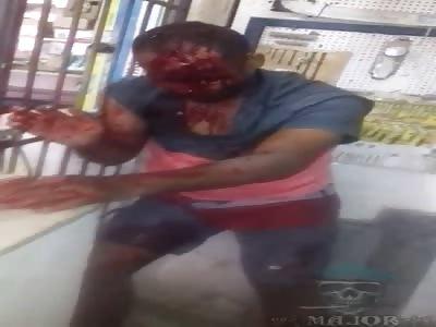 Robber Beaten by Karma