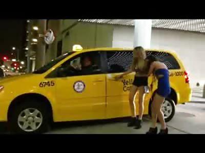 Girl goes Flintstones on her Drunken Friend outside of Club