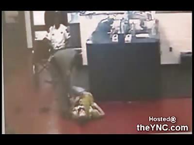 Female Deputy Dumps Man out of Wheelchair