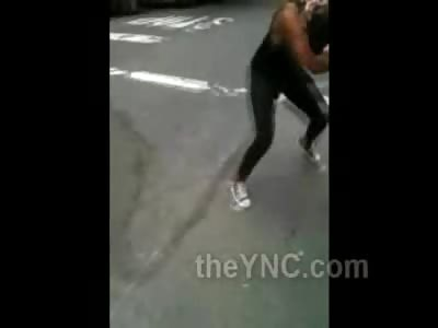 Titties Out: Black Chicks Battle and Boobies Plop out of Ruffnecks Shirt